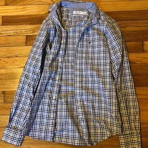 Men's blue and gray button up from Nautica